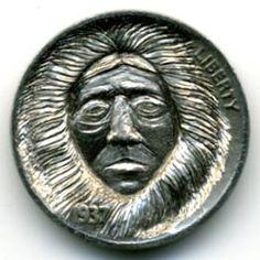 by Steve Ellsworth Hobo Nickel, Tlingit, Alaska, Buffalo, Coins, Carving, Art, Art Background, Rooms