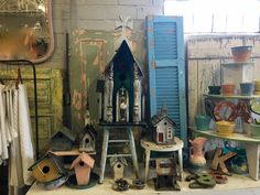 Vintage Birdhouses   So Many, So Cute!   $20 to $95 Each  Country Garden Antiques 147 Parkhouse  Dallas, TX 75207