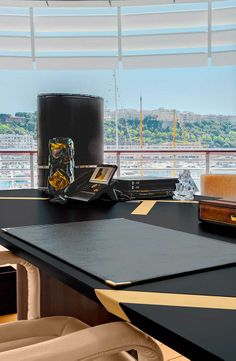 Luxury Living Group Fendi Casa furnishes the new Monaco Yacht Club #office #desk…