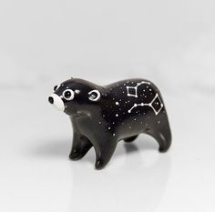 ★ Special Cosmos Collection ★    Bear Animal Figurine is unique handmade polymer clay totem from special Cosmos Collection! This sculpture is