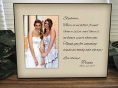 Wedding Gift For Sister Cash : Sisters wedding gift, Maid of Honor gift, Matron of Honor gift ...