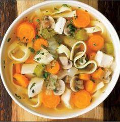 Voici un repas complet idéal pour le dîner, la Soupe poulet et nouilles Weight Watchers. Un plat riche en protéines et vitamines, recette pour 6 personnes.