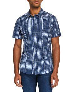 Slate & Stone Men's Polka Dot-print Sports Shirt In Multi Pattern Polka Dot Print, Polka Dots, Slate Stone, Sports Shirts, Short Sleeves, Men Casual, Mens Fashion, Pattern, Mens Tops