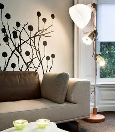 wall decal modern living room. I like that this is removable.