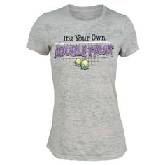 Loveall Women`s It`s Your Own Double Fault Silver Tennis Tee Small by Loveall. $36.00. Sport your attitude with the LoveAll Womens Its Your Own Double Fault Tee featuring a vintage wornin look and feel Soft sheer fabric is comfortable on or off the court Each slimfit tee features a unique striation design for a oneofakind lookFabric 50 ringspun cotton 50 polyesterColor Silver