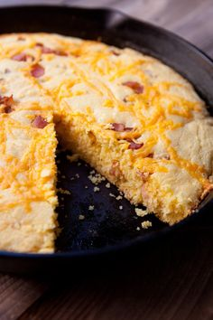 Recipe: Skillet Cornbread with Bacon & Cheddar
