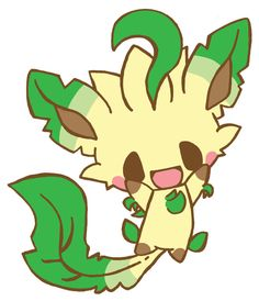 277 by inopoke on DeviantArt (Leafeon) Eevee Evolutions, Pokemon Eevee, All Pokemon, Pokemon Rouge, Draw Pokemon, Cute Pokemon Wallpaper, Wallpaper Iphone Cute, Creepy Animals, Cute Pikachu