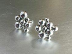 Silver Bubbles Post Earrings on Etsy