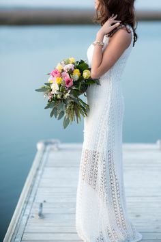 A boho-chic wedding bouquet