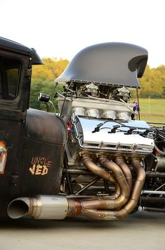 Uncle JED: 820ci Jon Kaase Ford Hemi. 2,000hp naturally aspirated Hemi in a Model A.