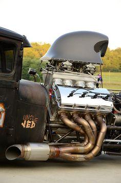Uncle JED: 820ci Jon Kaase Ford Hemi. 2,000hp naturally aspirated Hemi in a Model A.