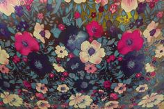 """Vintage Department Store Beautiful Floral Wrapping Paper 30"""" Wide x 3 Yards 