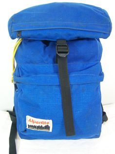1970s Alpenlite backpack Blue daypack bag by takeahikemercantile, $75.00