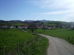 "The start of ""El Camino de Santiago"" in Spain near Roncevalles"