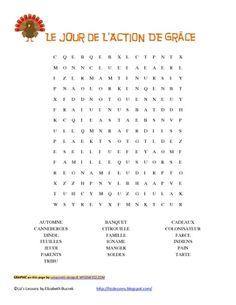 Vocabulaire et Activites pour le Jour de l'Action de Grace! Thanksgiving Writing, Thanksgiving Activities, School School, 100 Days Of School, Foreign Language, French Language, French Worksheets, French Immersion, How To Speak French