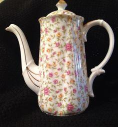 Rose Chintz Tea Pot Japan