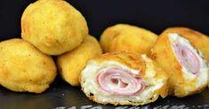 Rollitos de jamón y queso villaroy