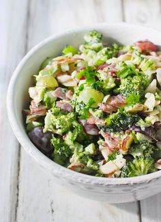 Broccoli Grape Salad Lightened Up
