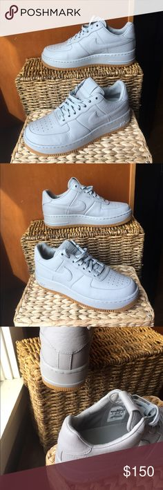 BNIB Nike AF1 low Pinnacle size 8 Brand New NIKELAB Air Force 1 LOW UPSTEP MATTE SILVER  PINNACLE #856477-001 woman's size 8, also a kids size 6.5Y, or a men's size 6. These sneakers are in mint condition, no signs of wear at all, comes with original side slide Nike Box. Originally 160.00                                                  Keeping the price high, make me offers, and I can drop the price when we agree and save you on shipping :) Nike Shoes Sneakers