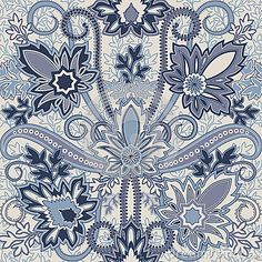 Seamless pattern with paisleyTraditional oriental filigree ornament.