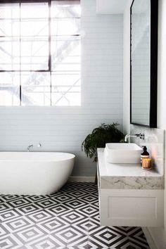 Bathroom tile and freestanding tub /