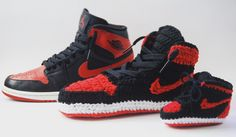 The Air Jordan Bred 1. The show that started it all for Michael Jordan as well as for us here at Baby Snkrz. Cop yours at BABYSNKRZ.etsy.com