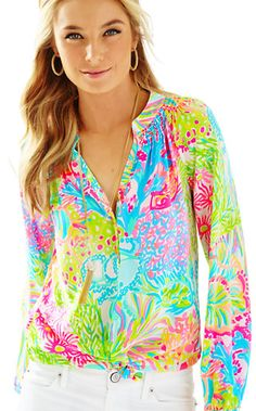 Lilly Pulitzer Elsa Top - Lovers Coral