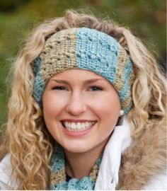 Free Crochet Cozy Winter Headband Pattern.