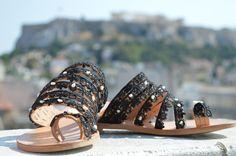 cuoio sandali fatti a mano greca moda boho Ancient Greek Sandals di fatto un manoush cucite a mano di fattoamanou su Etsy