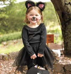 You can find alluring and exquisite kids' Halloween costumes at Pottery Barn Kids. Costumes from this online store are great to wear on Halloween night and can also be used for creative, imaginative play all year long. Tutu Costumes Kids, Cute Kids Halloween Costumes, Black Cat Costumes, Homemade Halloween Costumes, Halloween Cat, Toddler Cat Costume, Fantasias Halloween, Halloween Disfraces, Kitty Costume