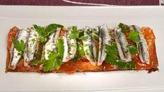 Receta de Tosta de tomate, pimientos de Padrón y anchoas