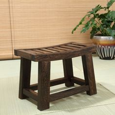 Japanese Antique Wooden Stool Bench Paulownia Wood Asian Traditional Furniture | Home & Garden, Furniture, Benches & Stools | eBay!