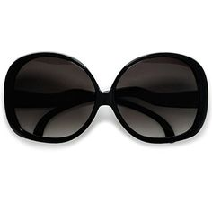 Extra Large Oversized Womens Round Frame Designer Inspired Indie Fashion Sunglasses Black >>> Learn more by visiting the image link.