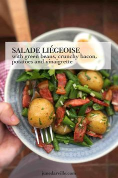 Best Salade Liegeoise Salad Recipe Easy Salad Recipes, Easy Salads, New Recipes, Cooking Recipes, Sandwich Recipes, Summer Salads, Side Dishes Easy, Side Dish Recipes, Dinner Recipes