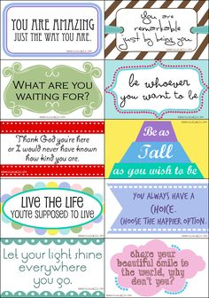 Card Drops...free printables to offer love & encouragement to anyone who needs it