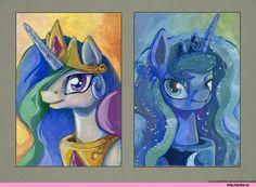 mlp art,my little pony,Мой маленький пони,фэндомы,Princess Celestia,Принцесса Селестия,royal,Princess Luna,принцесса Луна,mlp traditional art,lexx2dot0