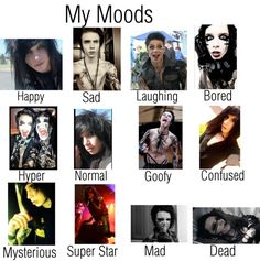 """My moods"" by bvb3666 ❤ liked on Polyvore"