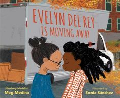 MOVING - Evelyn Del Rey is Daniela's best friend. They do everything together and even live in twin apartments across the street from each other: Daniela with her mami and hamster, and Evelyn with her mami, papi, and cat. But not after today--not after Evelyn moves away. Until then, the girls play amid the moving boxes until it's time to say goodbye, making promises to keep in touch, because they know that their friendship will always be special. The tenderness of Meg Medina's beautifully...