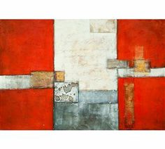 Surya Wall Art (FREE SHIPPING!) orange, modern, abstract painting