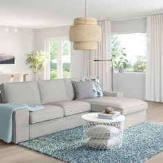 KIVIK 3-pers. sofa, Med chaiselong/orrsta lysegrå - IKEA Ikea Kivik, Ikea Vallentuna, Ikea Canada, Chaise Cushions, Chaise Lounges, Loveseat Covers, Ikea Sofa Covers, Ikea Family, Sofa Frame
