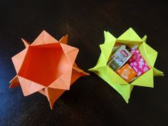 Star Candy Box - Starts by showing how to make a pentagon