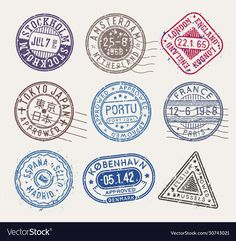 Web Design, Graphic Design, Printable Stickers, Stamp Collecting, Sticker Design, Vector Free, Stamps, Symbols, Adobe Illustrator