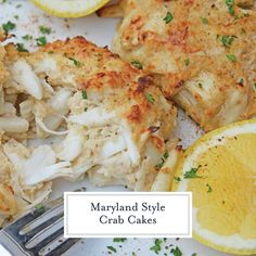 Maryland Crab Cakes are made with jumbo lump crab meat with little filler, Dijon mustard and Old Bay Seasoning plus secrets to making authentic Chesapeake crab cakes! Blue Crab Recipes, Lump Crab Meat Recipes, Crab Cake Recipes, Fish Recipes, Seafood Recipes, Cooking Recipes, Appetizer Recipes, Yummy Recipes, Warm Appetizers
