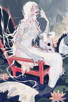Artist: vacuumch_ / vacuumchan / vacuum / vacuum_chan More: ‏ Mermaid Drawings, Mermaid Art, Art Drawings, Mermaid Paintings, Vintage Mermaid, Manga Mermaid, Fantasy Creatures, Mythical Creatures, Pretty Art