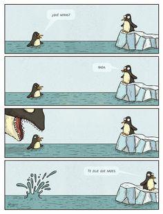 ¿español? ¡me gusta!: imperativo - subjuntivo en comics  -¿qué miras?   -nada  -te dije que nades