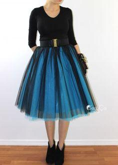 Ciara Ombré Tulle Skirt - Midi - C'est Ça New York