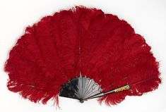 Fan made from ostrich feathers circa 1870 -1880, England | National Gallery of Victoria, Melbourne