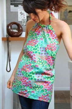 Amy Butler's Soul Blossom Fabrics with The Sun Surf Halter (sewing pattern)