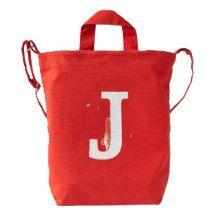 Custom Letter J Initial Monogram BAGGU Duck Bag Duck Canvas Bag
