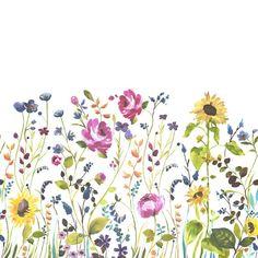 Anya Wallpaper Panel Multi by bluebellgray Wall Painting Decor, Painting Wallpaper, Watercolor Rose, Watercolor Design, Chalkboard Wall Art, Green Lounge, Bluebellgray, Flower Mural, Wallpaper Panels